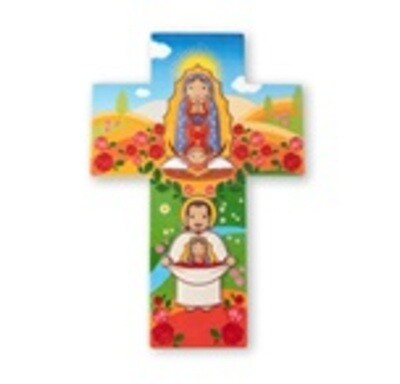 Resin Wall Cross Our Lady of Guadalupe Little Drops 1210-217