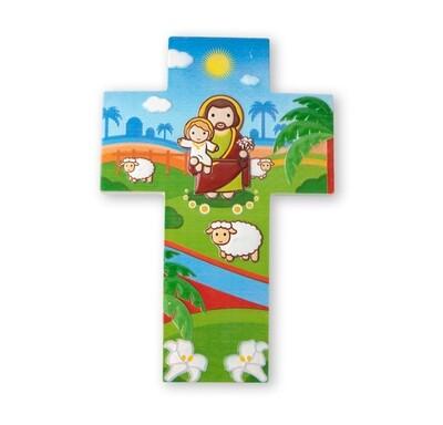 Resin Wall Cross St Joseph Little Drops 1210-630