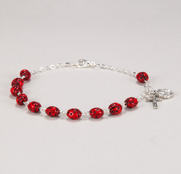 Our Lady's Bug Ladybug Decade Bracelet 1327