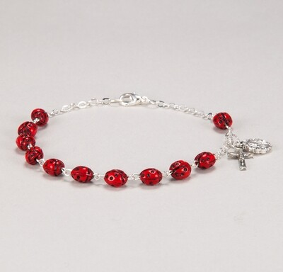 Our Lady's Bug Ladybug Decade Bracelet 1327