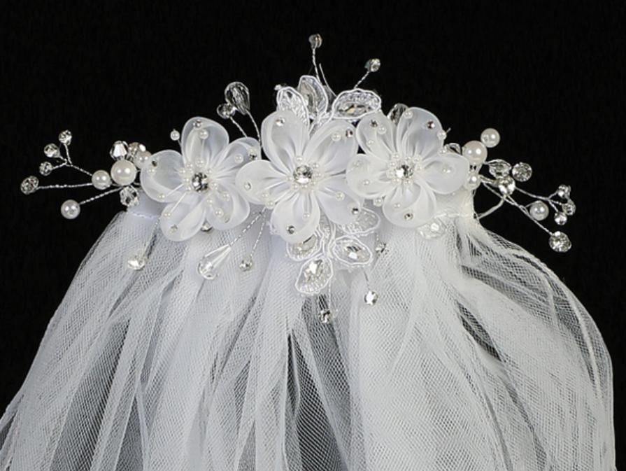 Communion Veil- Flower Comb