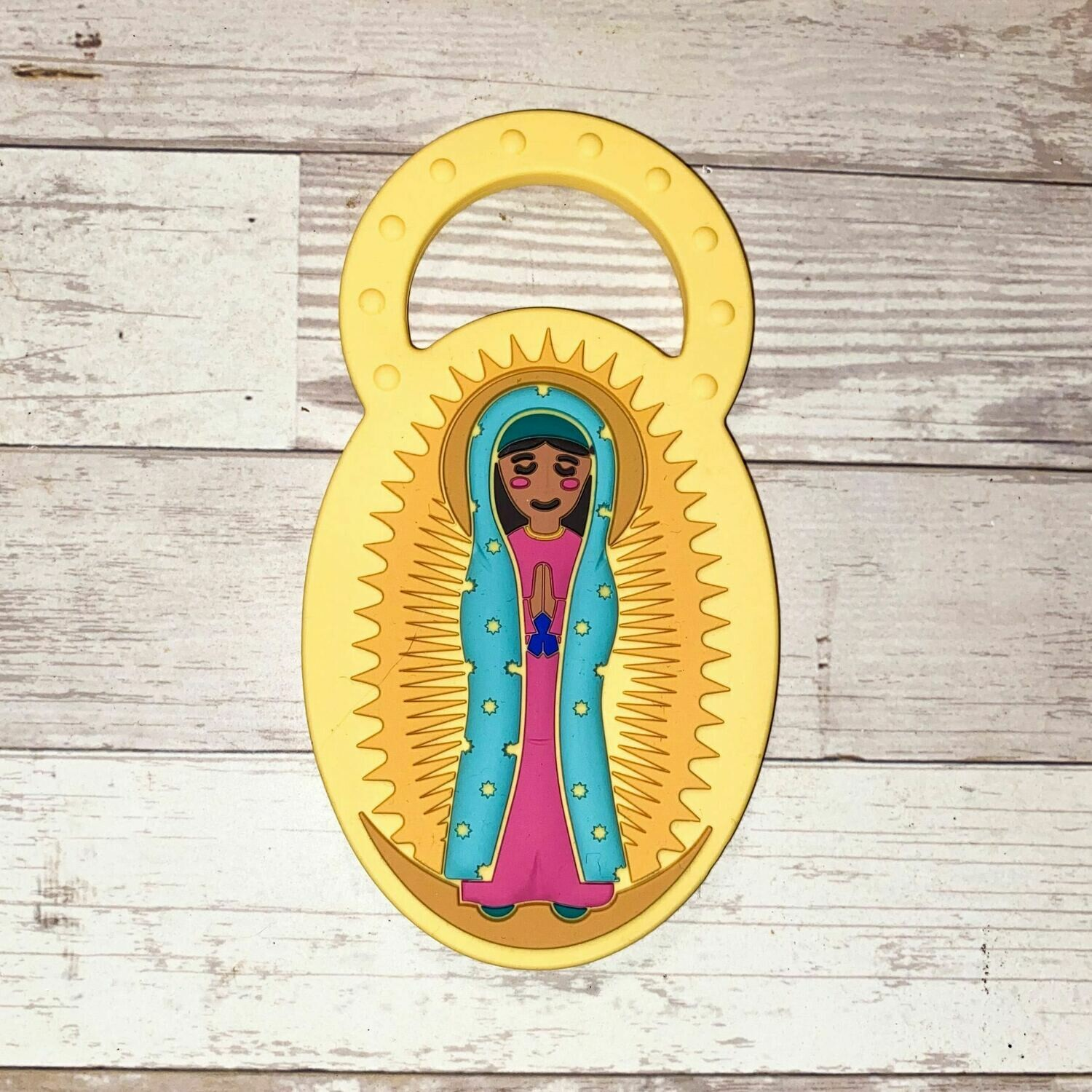 Chews Life Our Lady of Guadalupe Teether TEE-LAD-GUA