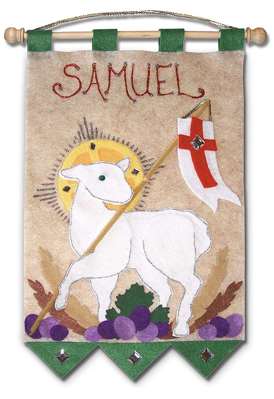 First Communion Banner Kit - Lamb of God - Emerald Green