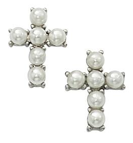 Pearl Cross Earrings BX