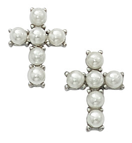 Pearl Cross Earrings BX