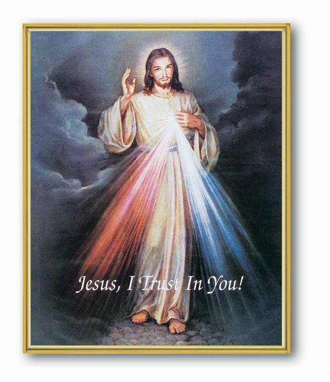 Divine Mercy Gold Framed 8x10 810-123
