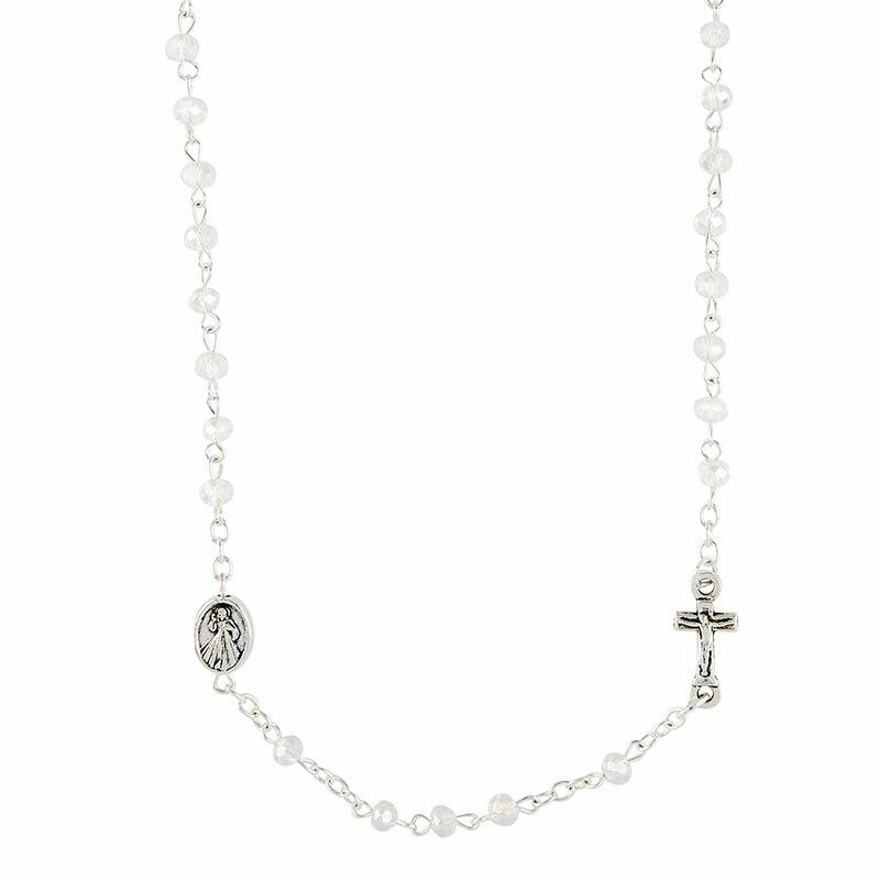 Divine Mercy Rosary Necklace