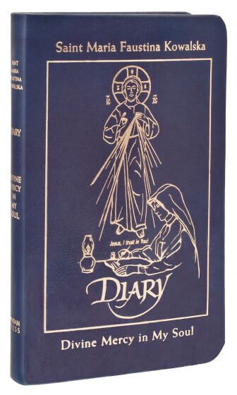 Diary of St Maria Faustina Kowalski: Divine Mercy in My Soul - Deluxe Blue Leather