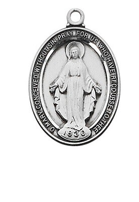 STERLING SIL. MIRACULOUS MEDAL