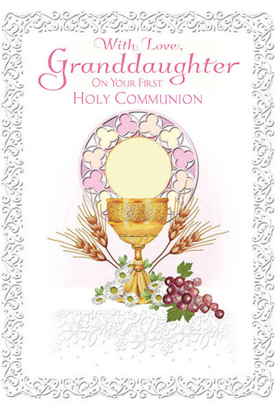 With Love Granddaughter First Communion 85525