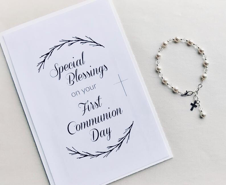 Special Blessings on your First Communion Day - Blank Card