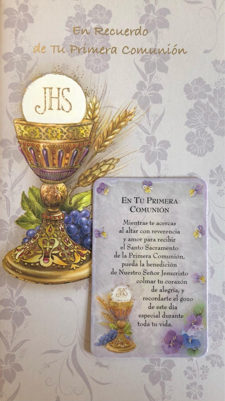 En Recuerdo de Tu Primera Comunión - En Español