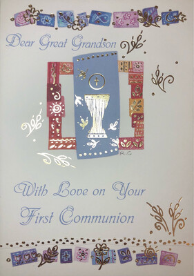 Dear Great Grandson With Love On Your First Holy Communion  36537