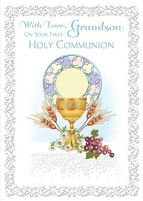 With Love Grandson First communion 85526