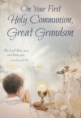 On Your First Holy Communion Great Grandson 68293