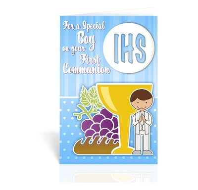 For a Special Boy First Communion Card FC-9204