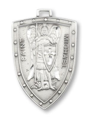 "1 1/4 Pewter St Michael Medal 24"" P1617/24"