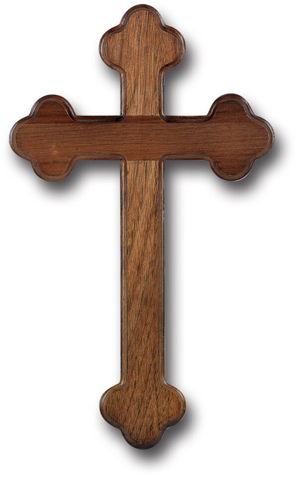 """10"""" Walnut Latin Cross 10W8"""