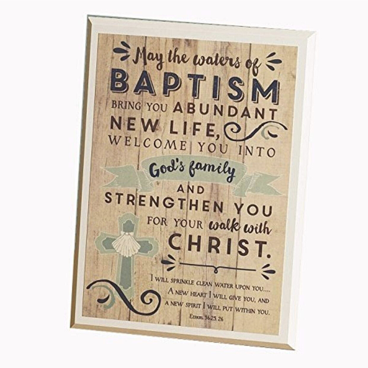 Waters of Baptism Plaque W Easle 57257