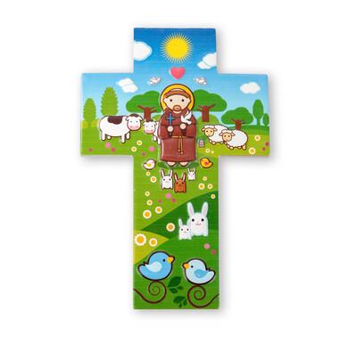 Resin Wall Cross St Francis Little Drops 1210-310