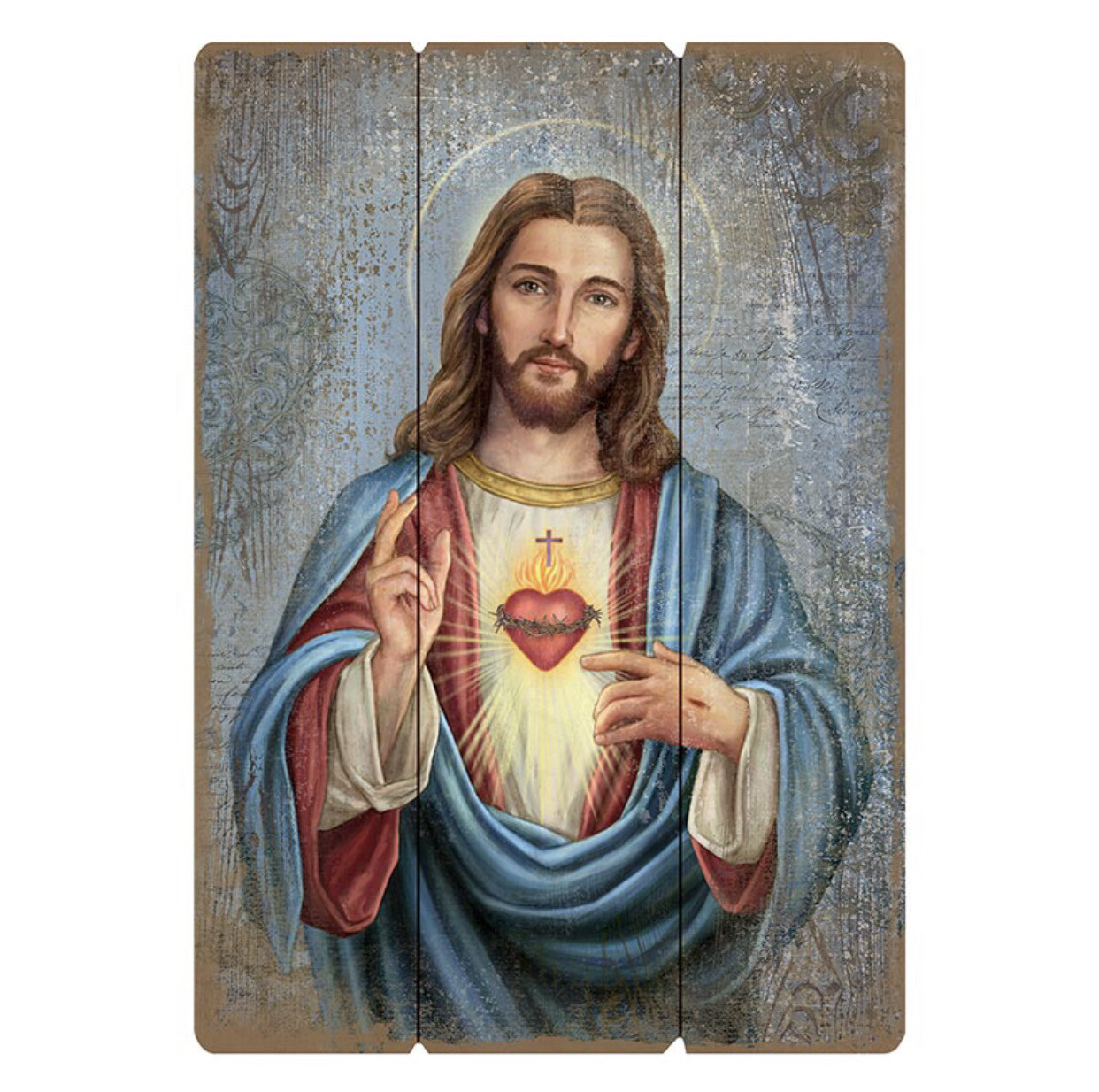 """Sacred Heart Large 27"""" Pallet Wall Plaque"""