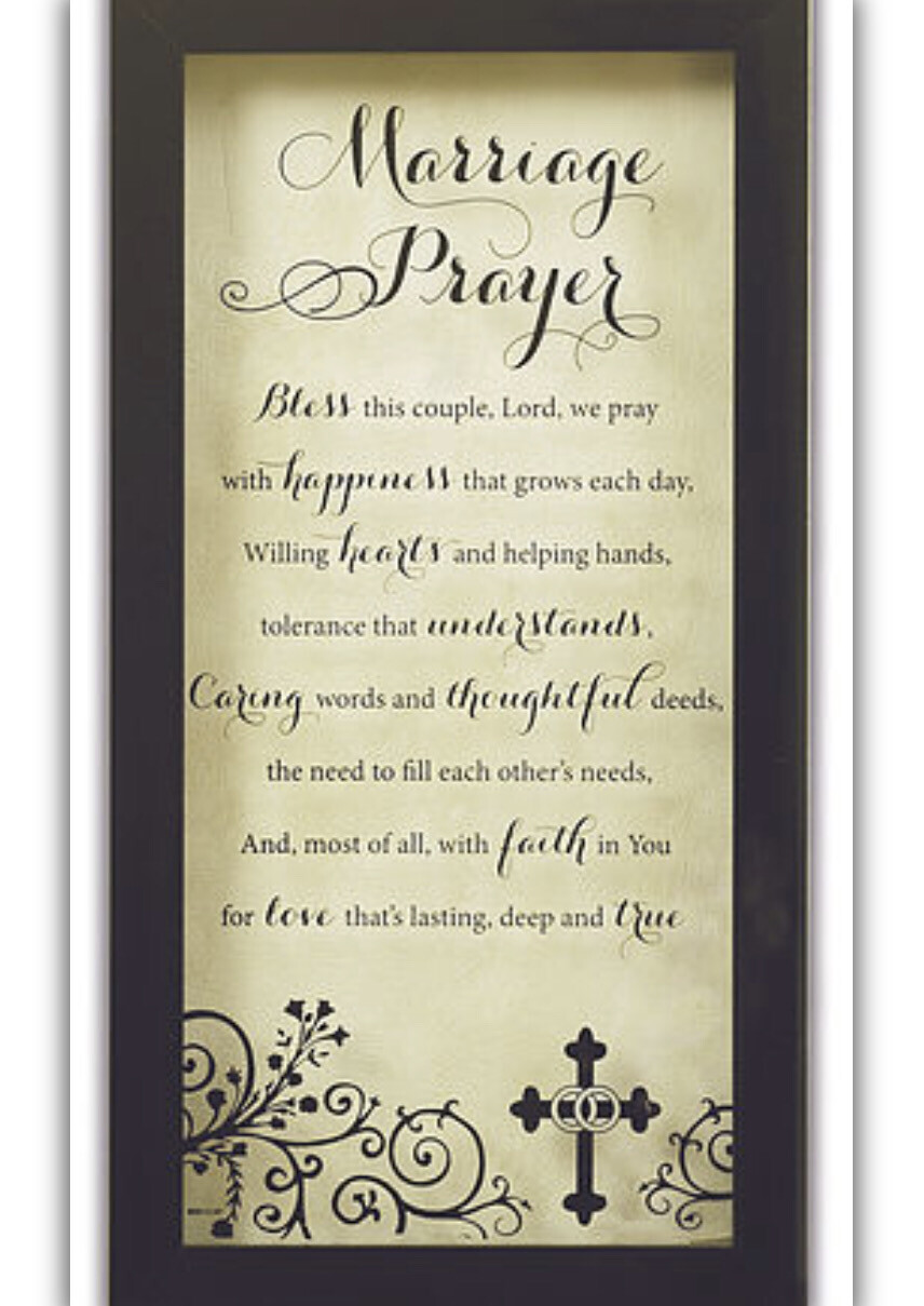 Marriage Prayer Wall Plaque With Box 56020