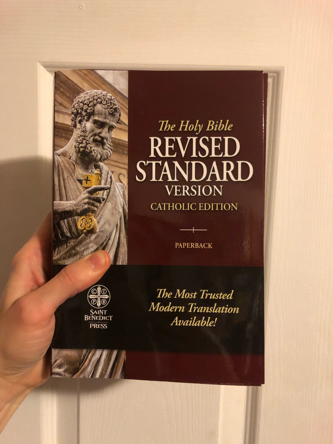 The Holy Bible RSV by Saint Benedict press; paperback