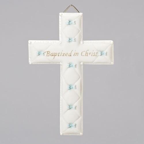 Baptized in Christ Wall Cross Blue 42828