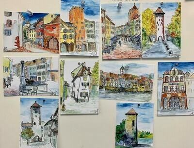 Postkarten-Set Unikat45