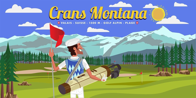 Illustration - Crans Montana GOLF #03