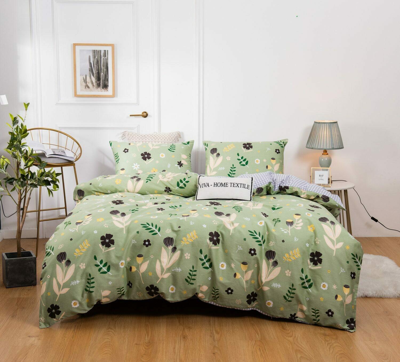 Комплект постельного белья Сатин 100% хлопок C435 Евро наволочки 50-70