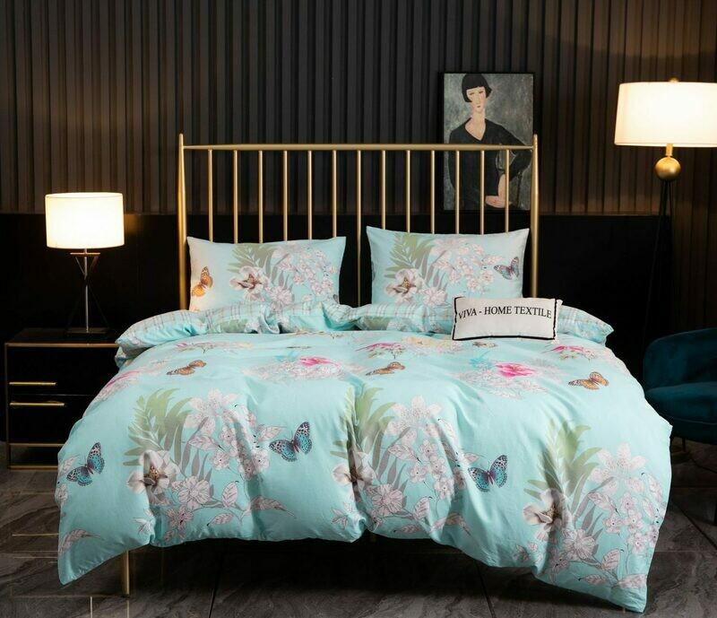 Комплект постельного белья Сатин 100% хлопок C443 2 спальный наволочки 50-70