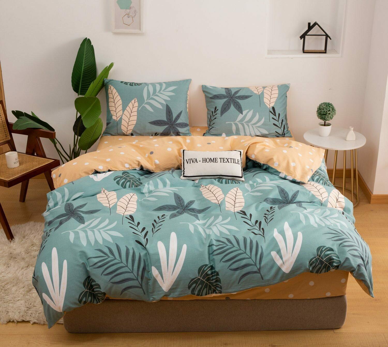 Комплект постельного белья Сатин 100% хлопок C434 Евро наволочки 50-70