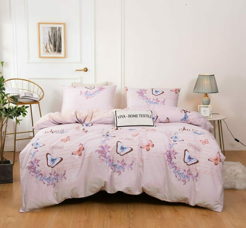 Комплект постельного белья Сатин 100% хлопок C436 2 спальный наволочки 50-70