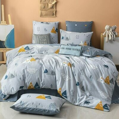 Комплект постельного белья Делюкс Сатин L328