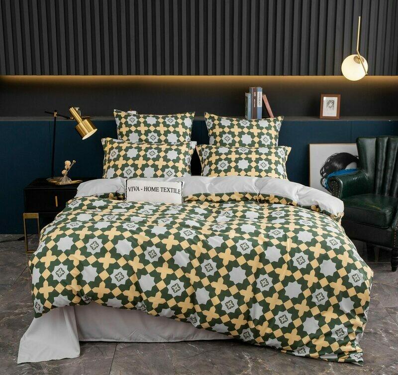 Комплект постельного белья Сатин Вышивка CN130