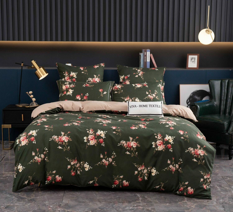 Комплект постельного белья Сатин Вышивка CN128