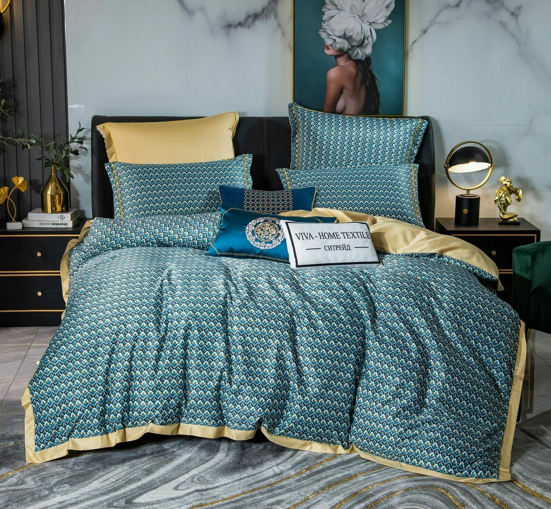 Комплект постельного белья Сатин Роял Тенсель TS016