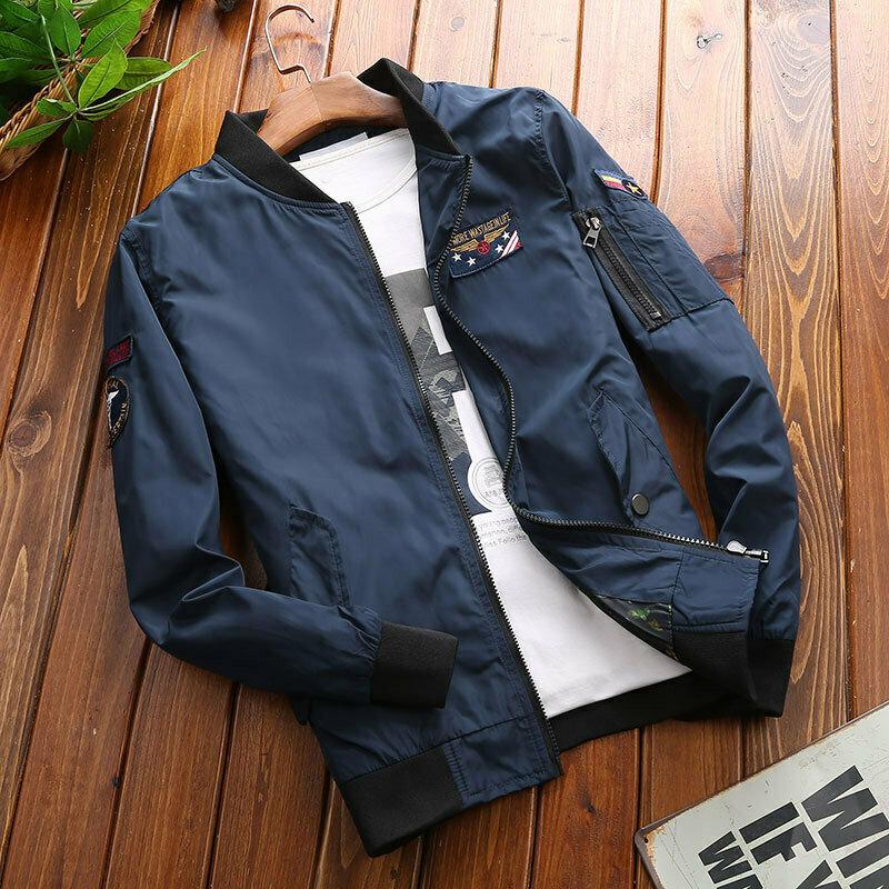 Men's loose baseball uniform bomber jacket