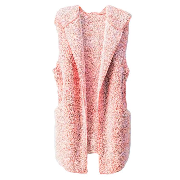 Fleece plush vest