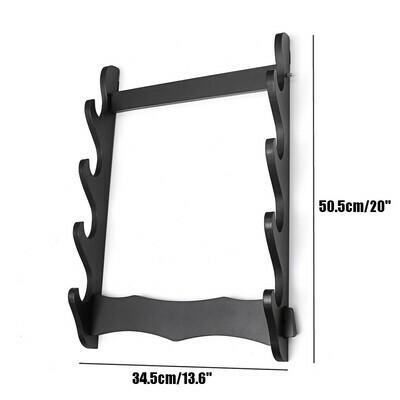 3/4 Tier Holder Wall Mount Samurai Stand Display Katana Hanger Rack Support