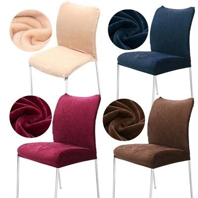 2Pcs/1Set Chair Seat Covers Farley Short Plush Universal Elastic Stretch Washable