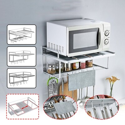 Microwave Shelf Rack Kitchen Shelf Spice Organizer Kitchen Storage Rack Bathroom Organizer