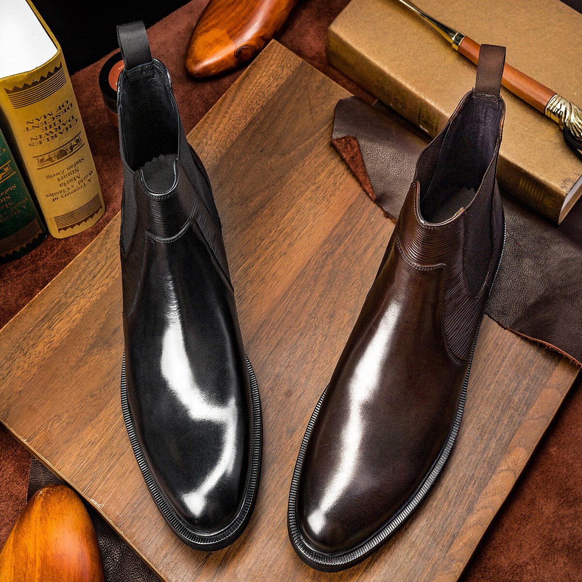 Korean Version Of The Atmosphere And Delicate Leather Boots Men