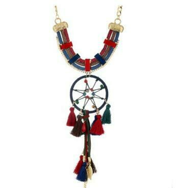 Fashion Europe and America dream catcher feather clavicle necklace pendant temperament tassel items