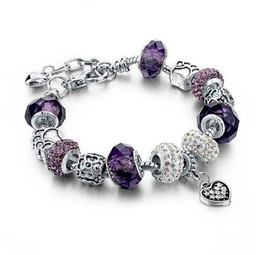 Crystal Beads Bracelets & Bangles Snake Chain Charm Bracelets For Women Jewellery