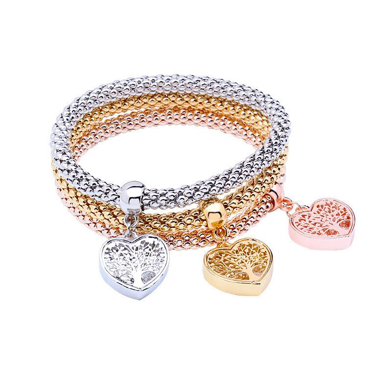 Elastic Bracelet European And American Heart Pendant Bracelet Fashion Bracelet