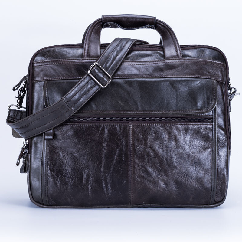 Cross border for European and American new real leather men bag leisure business briefcase men hand-held single shoulder bag