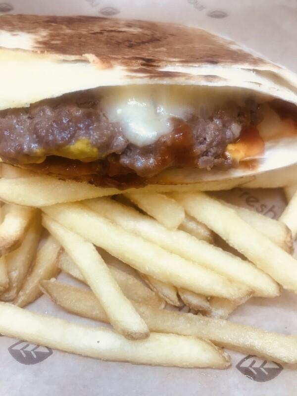 Burger Double Cheese Wrap