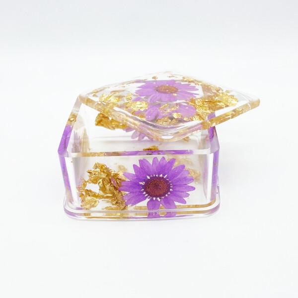 Boite à bijoux floral